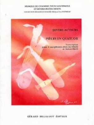 Pièces En Quatuor - Partition - Saxophone - laflutedepan.com