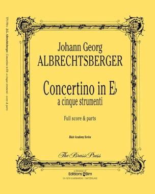 Concertino In Eb Johann Georg Albrechtsberger Partition laflutedepan