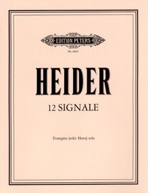 12 Signale Werner Heider Partition Trompette - laflutedepan
