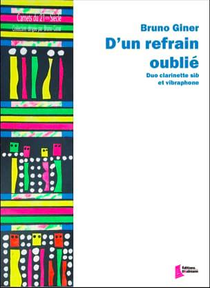 D'un refrain oublie... Bruno Giner Partition Vibraphone - laflutedepan