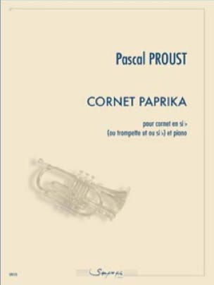 Cornet Paprika - Pascal Proust - Partition - laflutedepan.com
