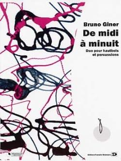 De midi a minuit Bruno Giner Partition Marimba - laflutedepan