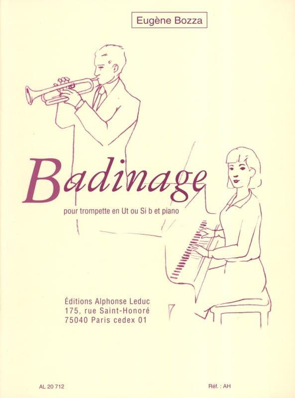Badinage - Eugène Bozza - Partition - Trompette - laflutedepan.com