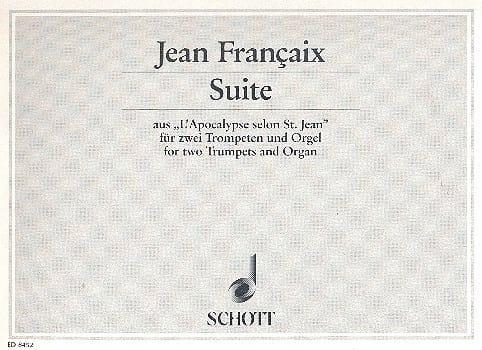 Suite - FRANÇAIX - Partition - Trompette - laflutedepan.com