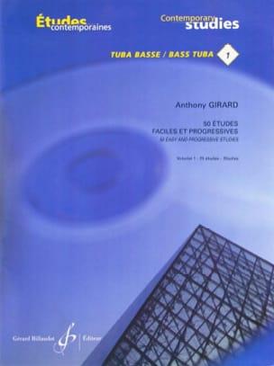 50 Etudes faciles et progressives volume 1 Anthony Girard laflutedepan