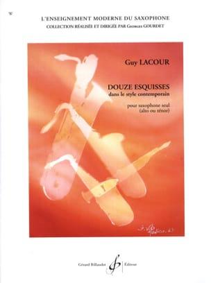 Guy Lacour - 12 Esquisses dans le Style Contemporain - Partition - di-arezzo.fr