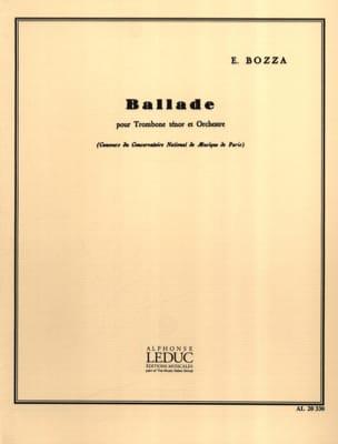 Ballade Eugène Bozza Partition Trombone - laflutedepan