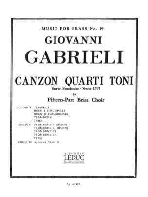 Canzon quarti toni - Sacrae symphoniae, Venise 1597 laflutedepan