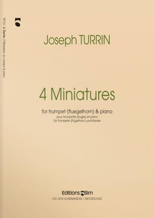 Four Miniatures Joseph Turrin Partition Trompette - laflutedepan