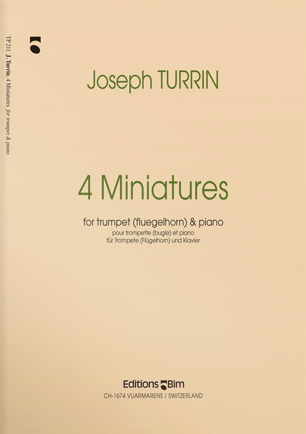 Four Miniatures - Joseph Turrin - Partition - laflutedepan.com