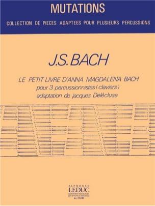 Le Petit Livre d'Anna Magdalena Bach BACH Partition laflutedepan