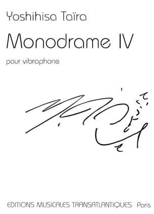 Monodrame 4 - Yoshihisa Taïra - Partition - laflutedepan.com