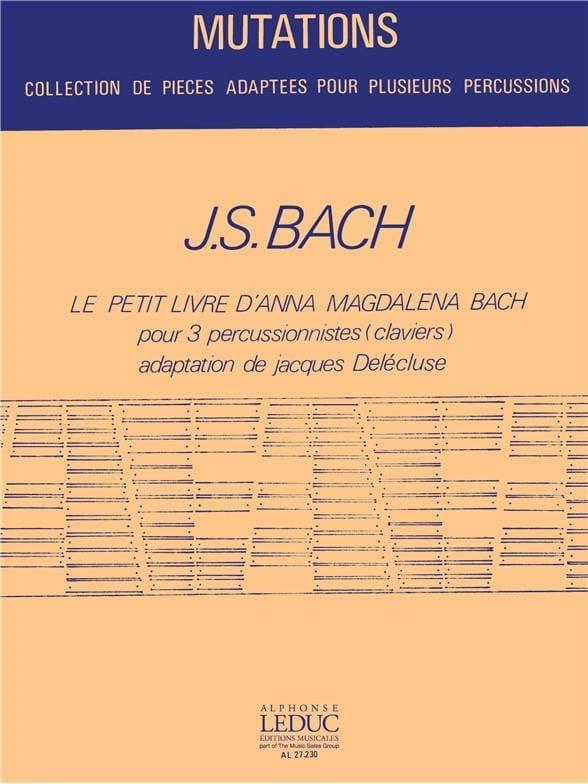 Le Petit Livre d'Anna Magdalena Bach - BACH - laflutedepan.com