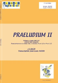 Praeludium II BACH Partition Ensemble de percussions - laflutedepan