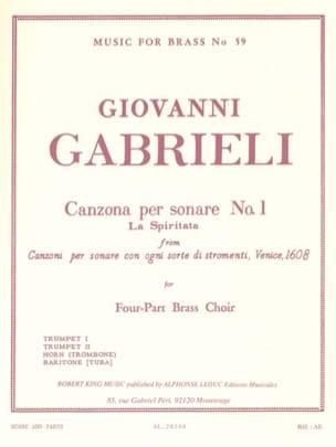 Canzona Per Sonare N° 1 - La spiritata GABRIELI Partition laflutedepan