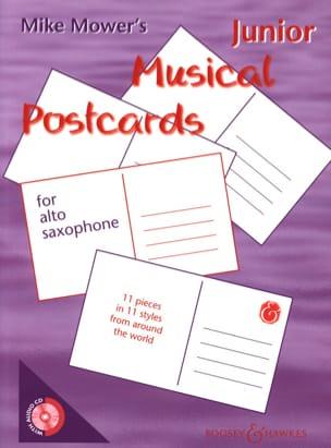 Junior Musical Postcards Mike Mower Partition Saxophone - laflutedepan