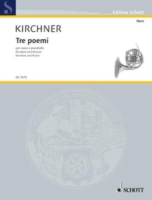 Tre Poemi For Horn Volker David Kirchner Partition Cor - laflutedepan