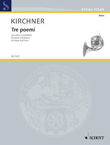 Tre Poemi For Horn - Volker David Kirchner - laflutedepan.com