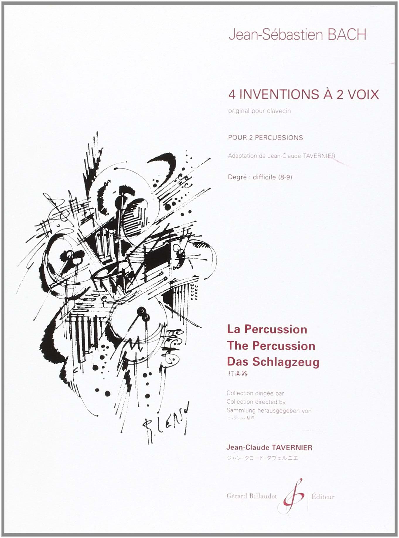 4 Inventions A 2 Voix - BACH - Partition - laflutedepan.com