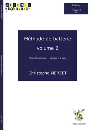 Méthode de Batterie Volume 2 Christophe Merzet Partition laflutedepan