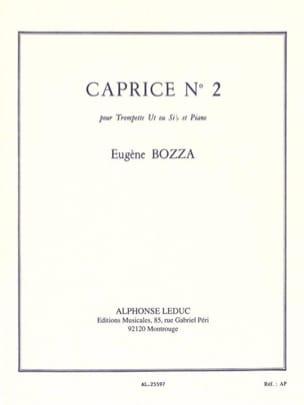 Caprice N° 2 Eugène Bozza Partition Trompette - laflutedepan