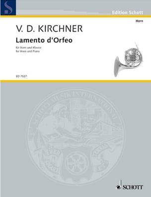 Lamento D' Orfeo Volker David Kirchner Partition Cor - laflutedepan