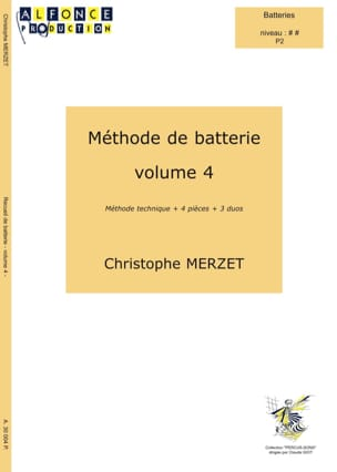Méthode de Batterie Volume 4 Christophe Merzet Partition laflutedepan