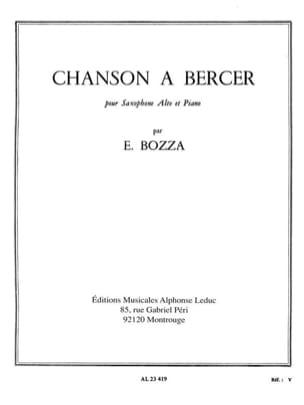 Chanson à Bercer Eugène Bozza Partition Saxophone - laflutedepan