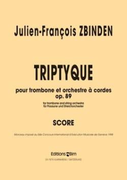 Triptyque Opus 89 Julien-François Zbinden Partition laflutedepan