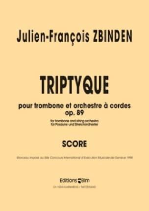 Triptyque Opus 89 - Julien-François Zbinden - laflutedepan.com