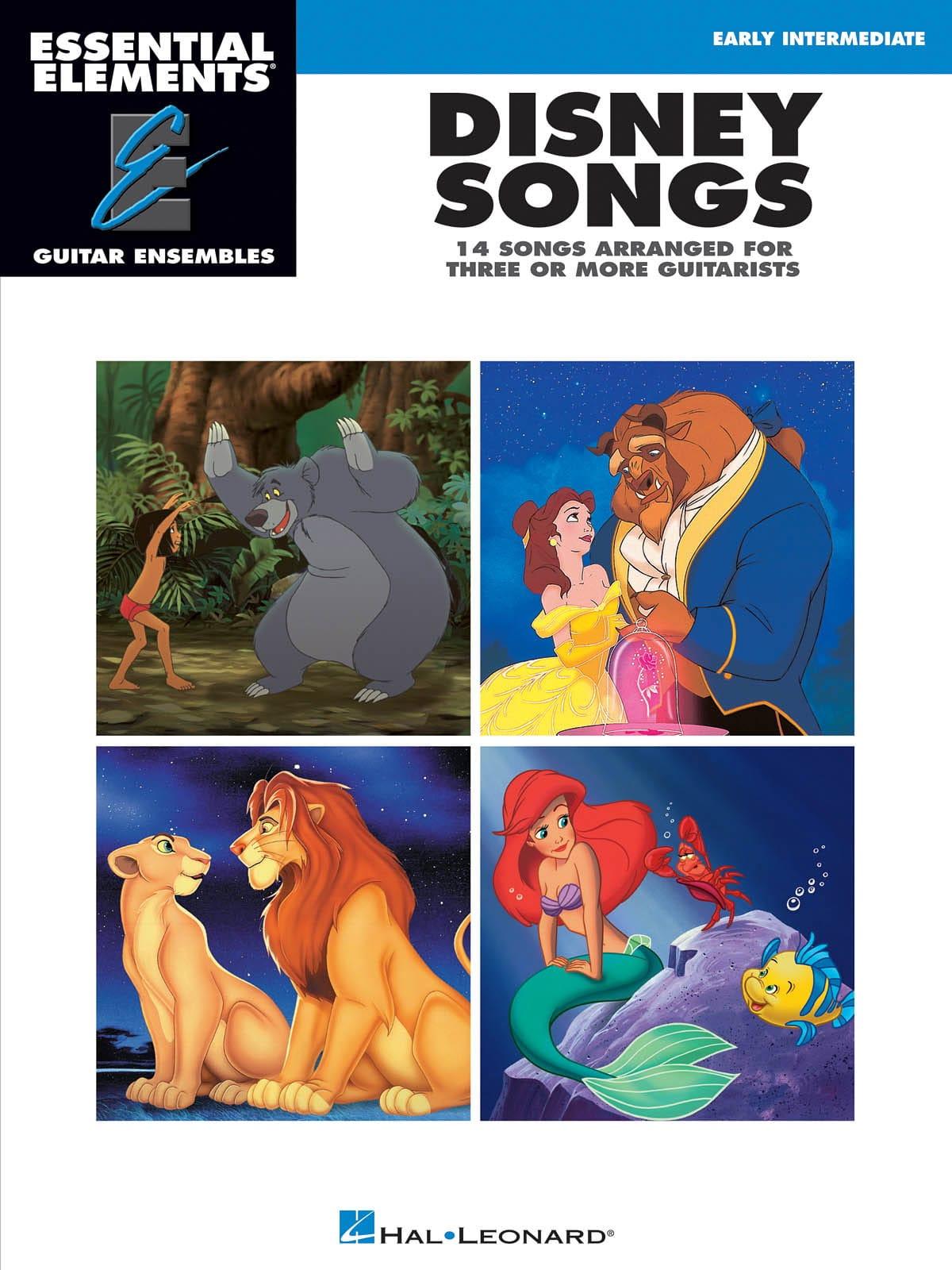 Disney Songs - 14 songs arranged for three or more guitarists - laflutedepan.com