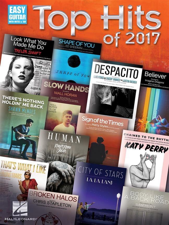 Top Hits of 2017 - Guitare - Partition - laflutedepan.com