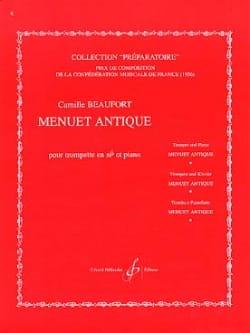 Menuet Antique Camille Beaufort Partition Trompette - laflutedepan