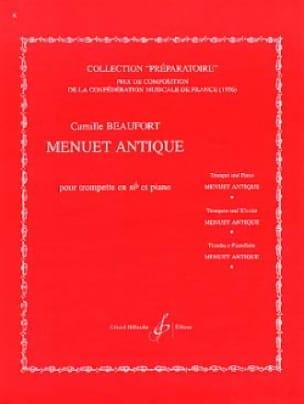 Menuet Antique - Camille Beaufort - Partition - laflutedepan.com