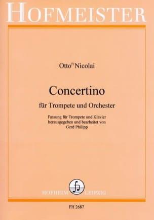 Concertino Otto Nicolai Partition Trompette - laflutedepan