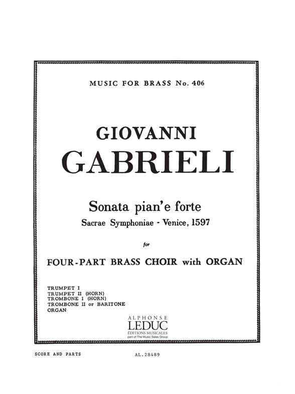 Sonata Pian'e Forte - GABRIELI - Partition - laflutedepan.com