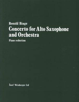 Concerto For Alto Saxophone Ronald Binge Partition laflutedepan