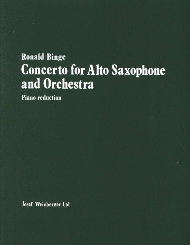 Concerto For Alto Saxophone - Ronald Binge - laflutedepan.com