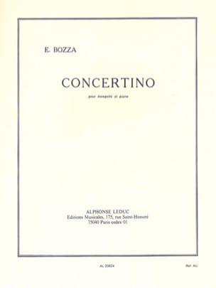 Concertino Eugène Bozza Partition Trompette - laflutedepan