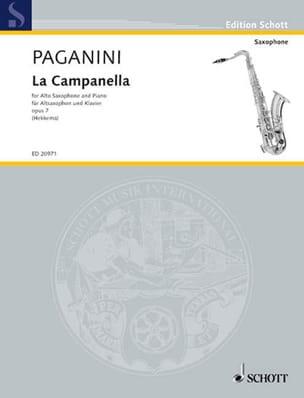 La Campanella Opus 7 PAGANINI Partition Saxophone - laflutedepan
