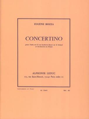 Concertino Eugène Bozza Partition Tuba - laflutedepan