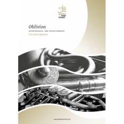 Oblivion - Horn Quartet Astor Piazzolla Partition Cor - laflutedepan