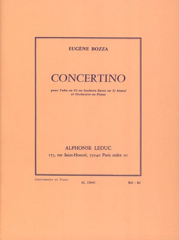 Concertino - Eugène Bozza - Partition - Tuba - laflutedepan.com