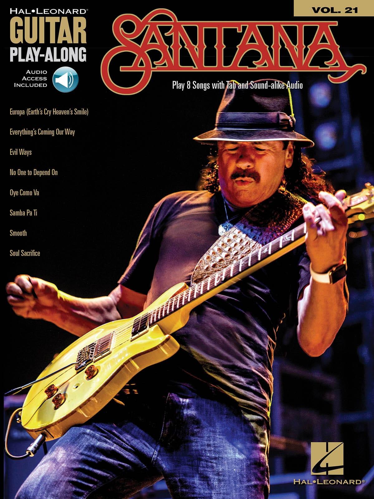 Guitar Play-Along Volume 21 - Santana - laflutedepan.com