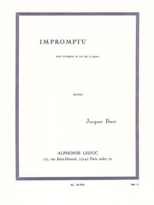 Jacques Ibert - Impromptu - Partition - di-arezzo.co.uk