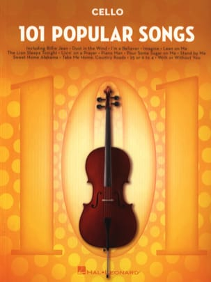 101 Popular Songs Partition Violoncelle - laflutedepan