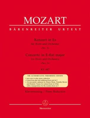 Concerto N° 3 In Es KV 447 MOZART Partition Cor - laflutedepan