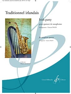 Irish Party Traditionnel Partition Saxophone - laflutedepan