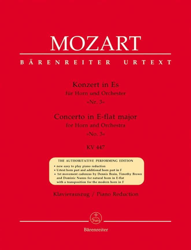 Concerto N° 3 In Es KV 447 - MOZART - Partition - laflutedepan.com