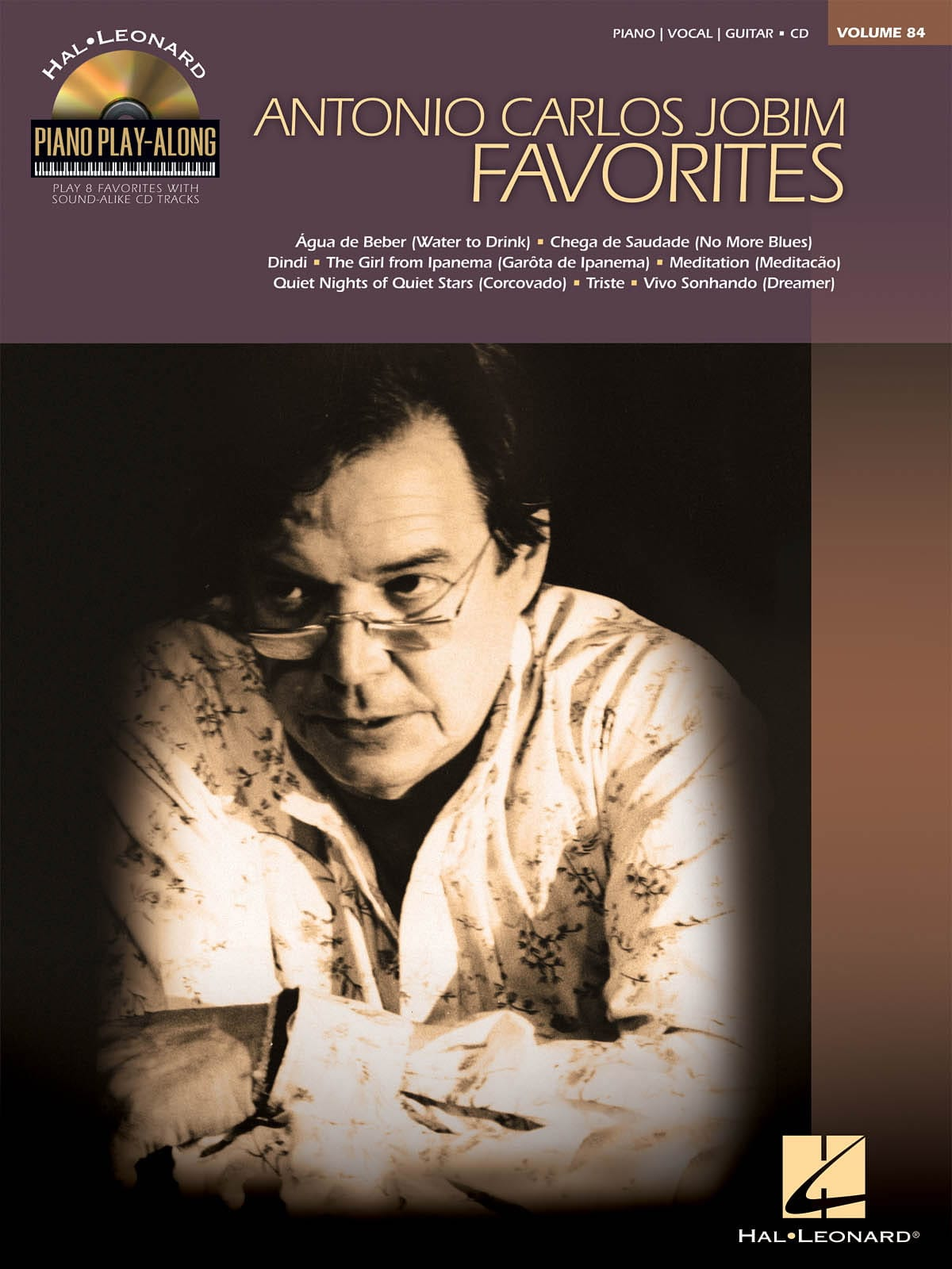 Piano Play-Along Volume 84 - Jobim Favorites - laflutedepan.com